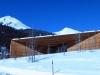 Berge und blauer Himmel in Davos