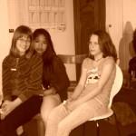 Drei Mädchen beim Hostserver Girls'Day